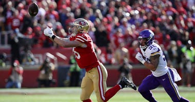 George Kittle misses practice with ankle injury