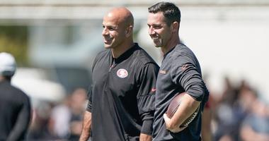 "Kyle Shanahan ""pumped"" Robert Saleh staying with 49ers"