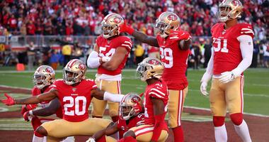 49ers defense celebrate trip to NFC Championship