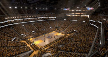 Chase Center court designs appear to leak online