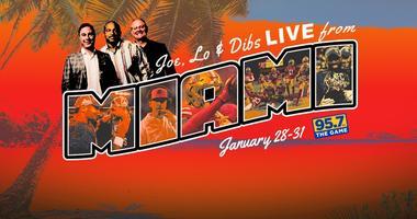 Joe, Lo & Dibs broadcast live from Miami