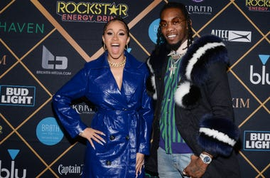 Cardi B and Offset at the 2018 American Music Awards at the Microsoft Theatre on October 9, 2018 in Los Angeles, California.