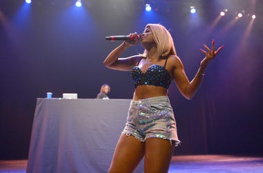 Dreezy performs onstage during the Gucci Mane: Trap God Tour concert at Fillmore at Jackie Gleason Theatre on May 2, 2017 in Miami Beach, Florida.