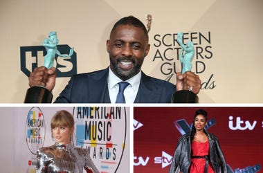 Idris Elba, Taylor Swift, and Jennifer Hudson
