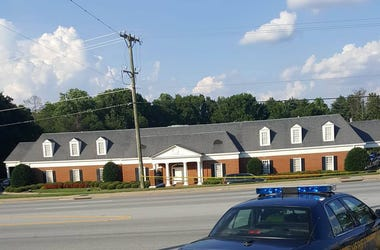The Crime Scene - after 2 were shot. The Thomas Mcafee Funeral Home