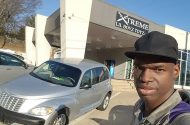 JJ Solomon is ridin on wheels from Xtreme Lil Boyz Toyz