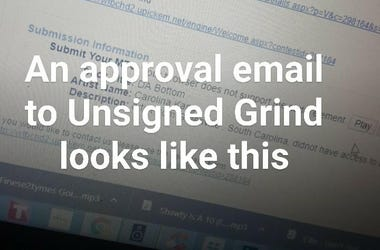 Approval emails look like this