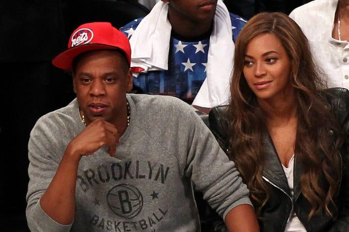 Singer Beyonce and husand, rapper JAY-Z