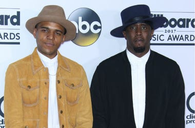 Actor Christopher Jordan Wallace (L) and producer Sean 'Diddy' Combs at 2017 Billboard Music Awards