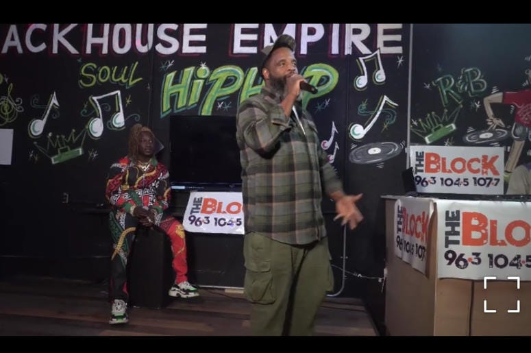 Akinyele In the Mackhouse Soundstage for his Unsigned Grind interview