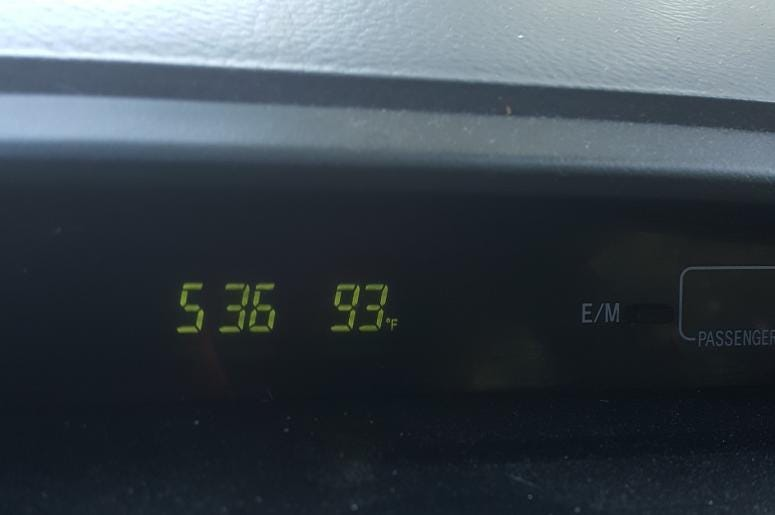 it was 93 degrees in Greenville today