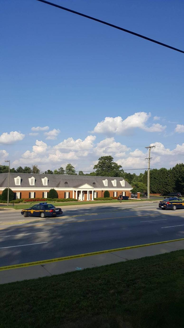 Crime Scene - Thomas Mcafee funeral Home 6700 White Horse Road in Berea (Greenville County)