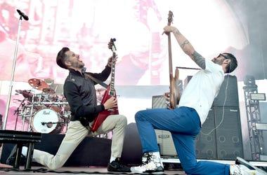 Nick Hexum and P-Nut of 311 perform onstage at KROQ Weenie Roast y Fiesta 2017