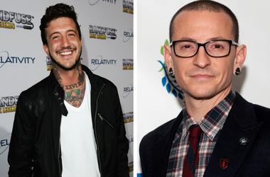Austin Carlile and Chester Bennington