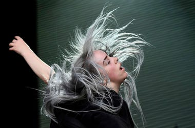 Billie Eilish performs during the Bonnaroo Music and Arts Festival.