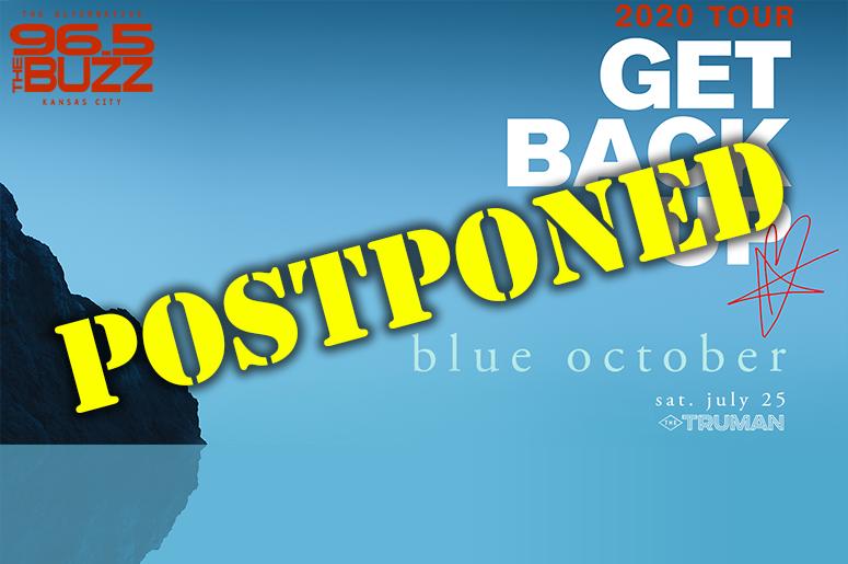 Blue October Postponed