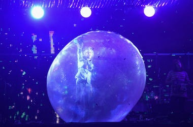 Wayne Coyne of The Flaming Lips performs onstage