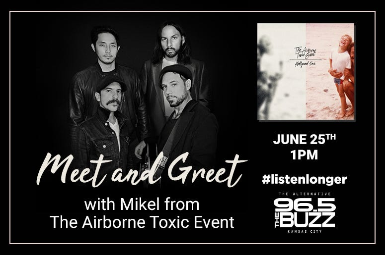 Win a Virtual Meet and Greet with Mikel of Airborne Toxic Event