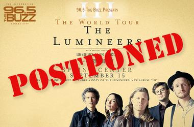 The Lumineers show has been postponed