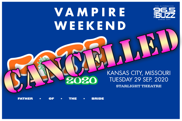 Vampire Weekend Cancelled
