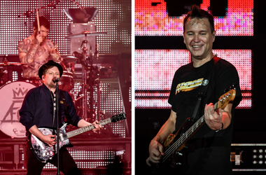 Blink-182's Mark Hoppus and Fall Out Boy's Patrick Stump