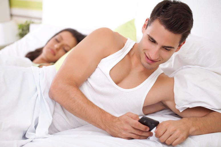 Caught cheating in bed