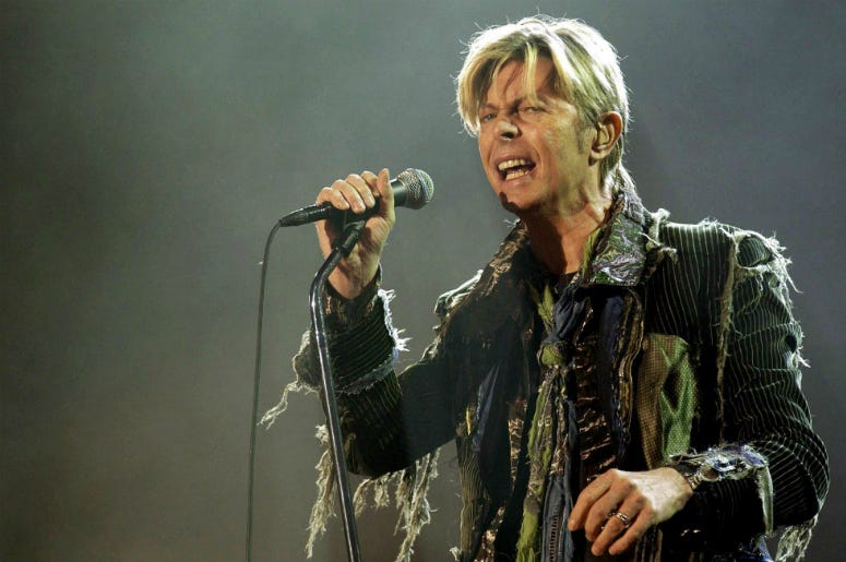 File photo dated 13/06/04 of David Bowie