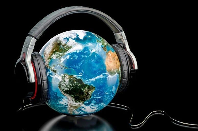 Earth With Headphones