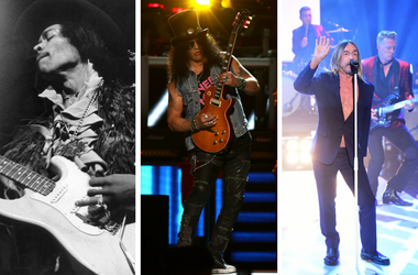 Jimi Hendrix, Slash, Iggy Pop