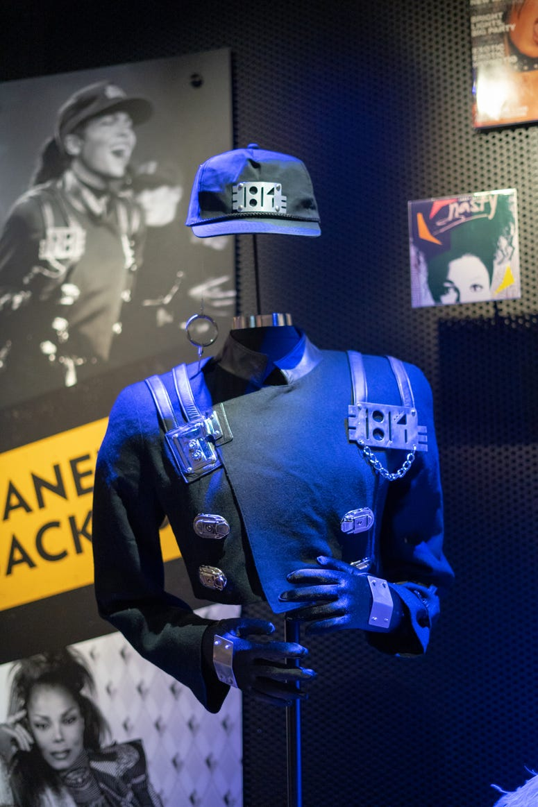 """The iconic outfit from Janet Jackson's """"Rhythm Nation"""" music video"""
