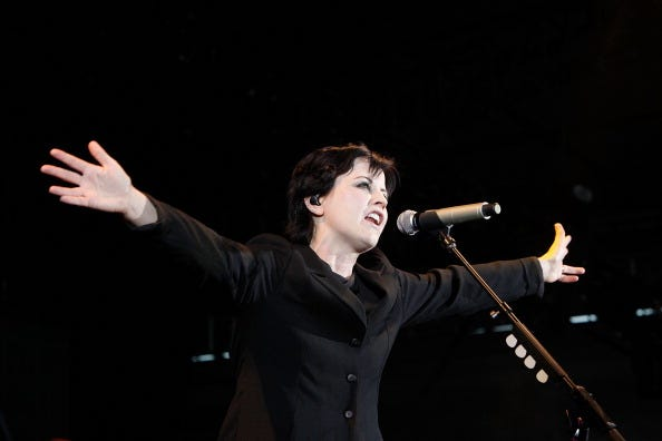 Dolores O'Riordan from The Cranberries performs during F1 Rocks! Melbourne at Sidney Myer Music Bowl on March 17, 2012 in Melbourne, Australia.