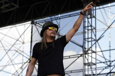 Recording artist Kid Rock performs before the championship game of the Final Four in the 2014 NCAA Mens Division I Championship tournament