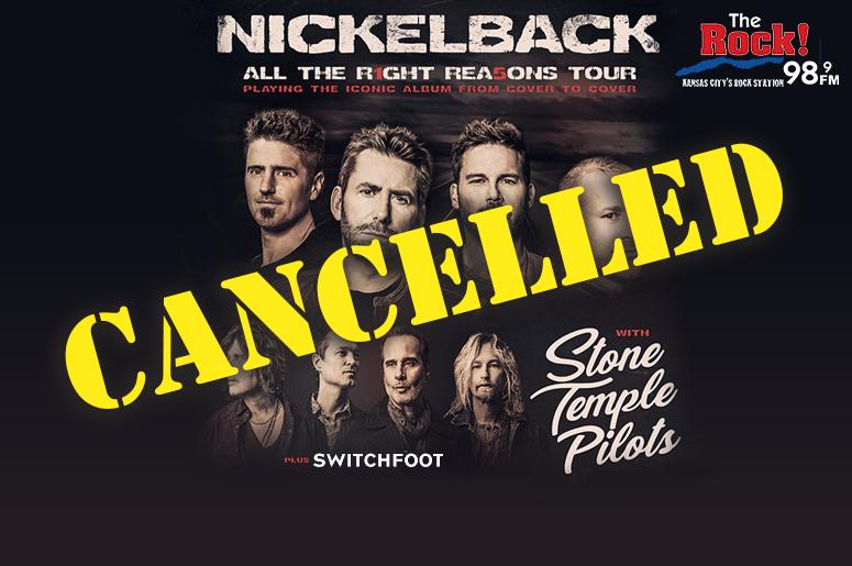 Nickleback Cancelled