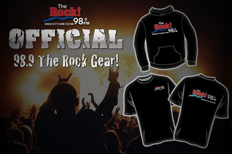 Official 98.9 THE ROCK gear!