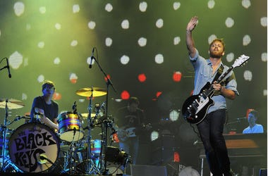 Patrick Carney and Dan Auerbach of The Black Keys perform during 2012 Lollapalooza