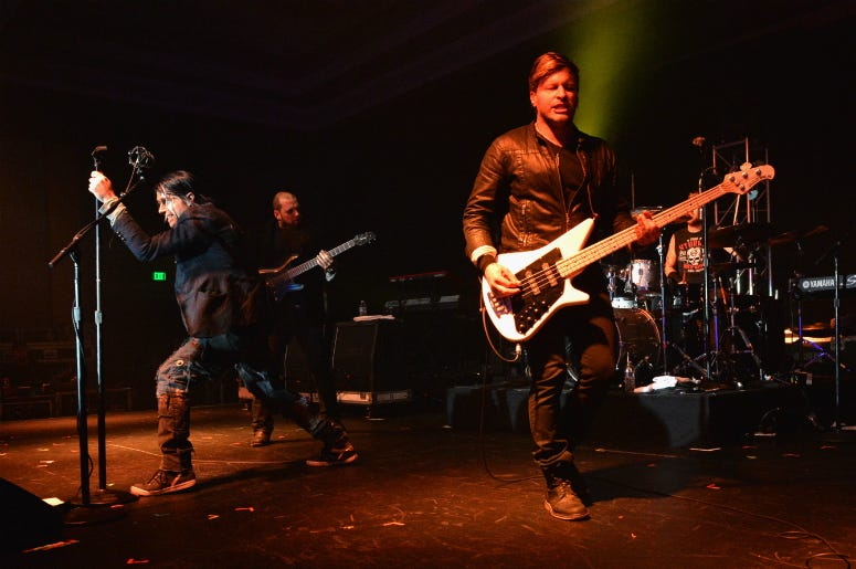 Three Days Grace perform at the Agency Group Party during the IEBA 2013 Conference