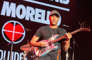 Tom Morello performs with X Ambassadors during KROQ Almost Acoustic Christmas