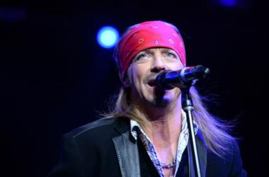 """Singer Bret Michaels performs at the """"Sing For Your Supper Campaign"""" Launch at Hard Rock Cafe in New York"""