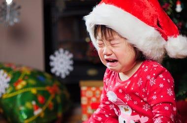 Kid crying christmas