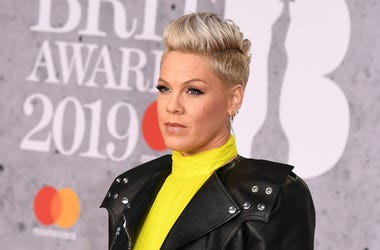 Pink, winner of the Outstanding Contribution to Music Award, attends The BRIT Awards 2019
