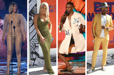 LOS ANGELES - JUNE 24: Jamie Foxx hosts the 2018 BET Awards / Tyra Banks appears / Ne-Yo / Saweetie, Diamonte Harper.
