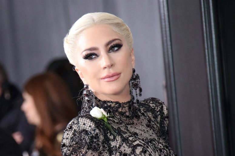 Jan 28, 2018; New York, NY, USA; Lady Gaga arrives at the 60th Annual Grammy Awards at Madison Square Garden.