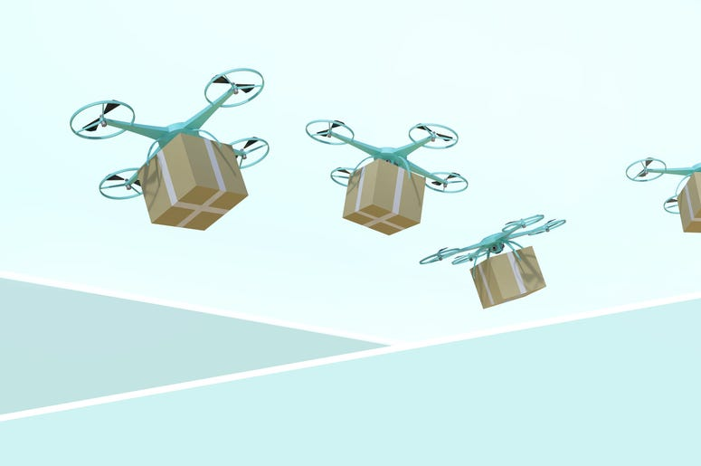 boxes with drone