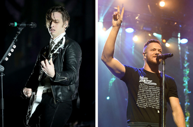 Mark Foster of Foster The People and Dan Reynolds of Imagine Dragons