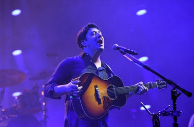 Marcus Mumford of Mumford & Sons performs at American Airlines Arena