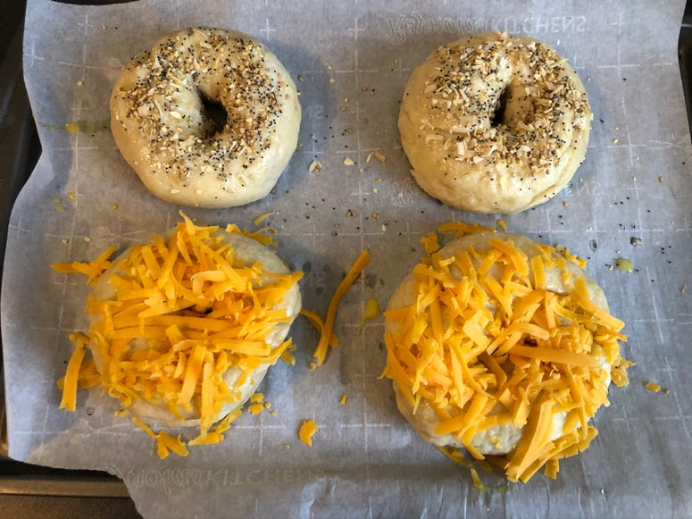 bagel topped