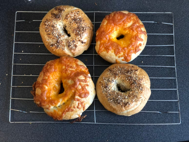 bagel cooked