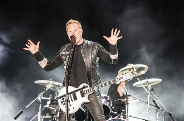 James Hetfield of Metallica In Concert