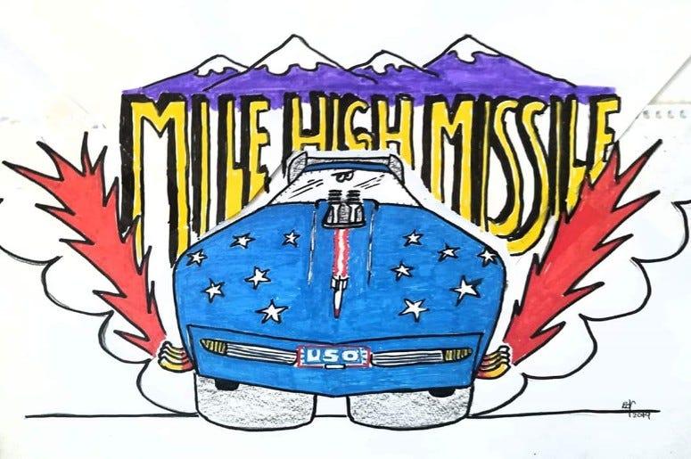 MileHigh Missile Nostalgia Corvette Funny Car