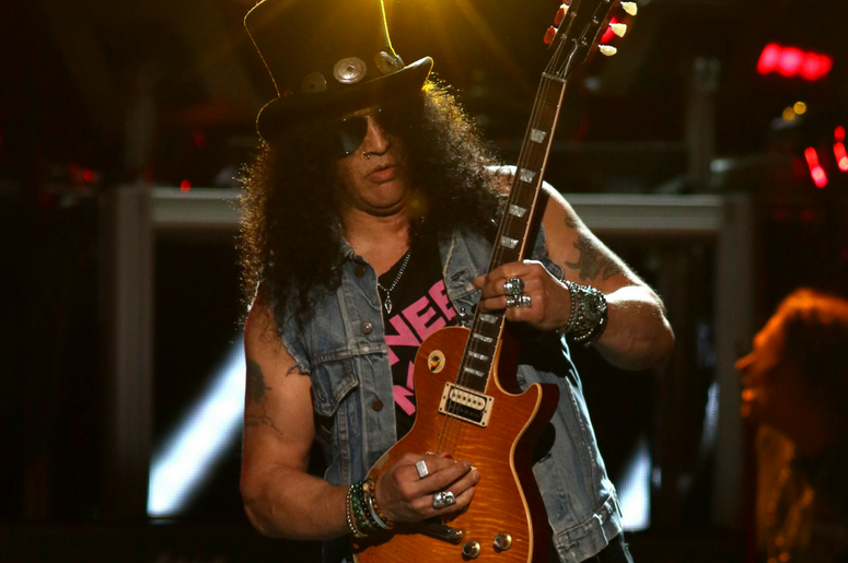 Slash of Guns N' Roses performs in concert at Madison Square Garden